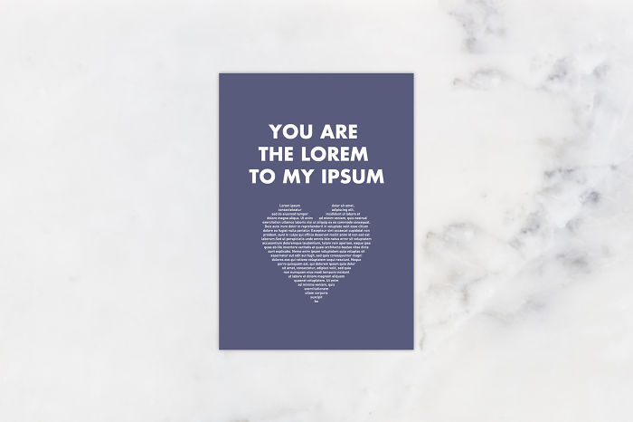 Valentine's Day Cards Ideas - you are the Lorem to my Ipsum