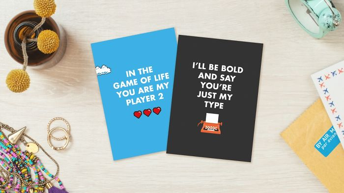 Nerdy Valentine's Day Cards - In the game of life you are my player 2! I'll be bold and say you're just my type