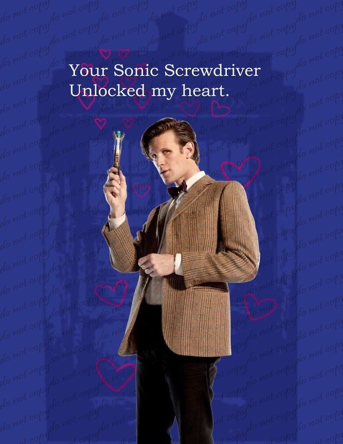 Valentine's Day Cards Ideas - Your Sonic screwdriver unlocked my heart