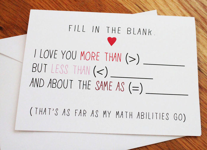 Nerdy Valentine's Day Cards - Fill in the blank