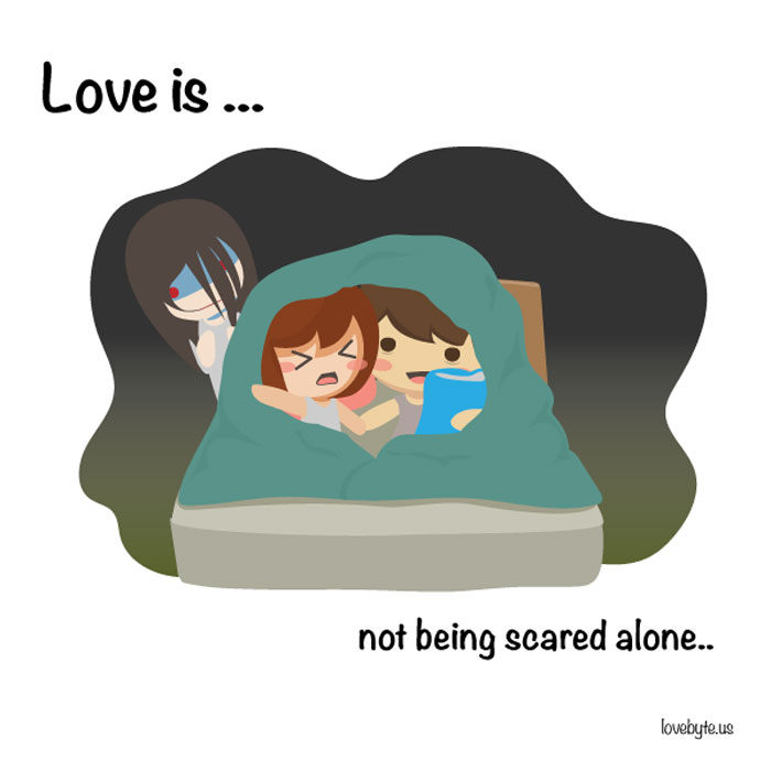 What Is True Love? Love is... not being scared alone...