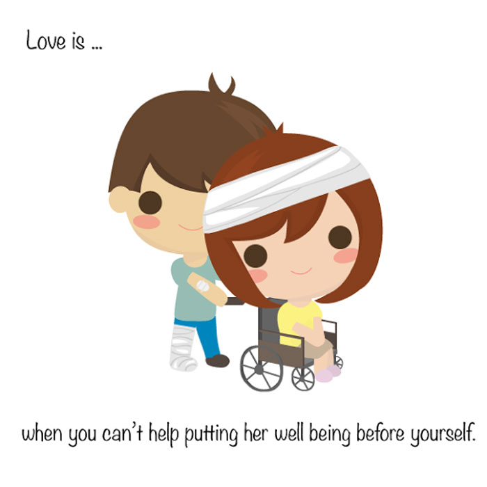 What Is Real Love? Love is... when you can't help putting her well being before yourself