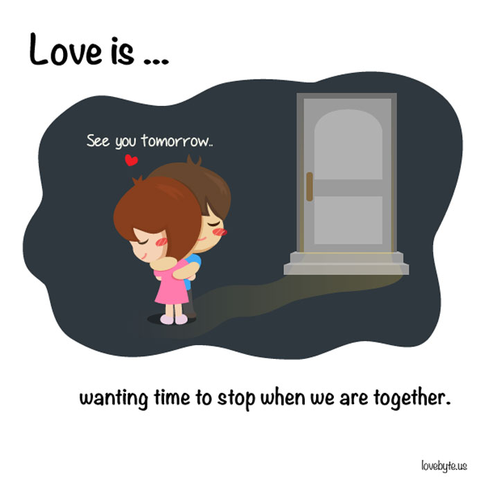 What Is True Love? Love is... wanting time to stop when we are together