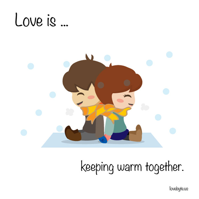 What Is True Love? Love is... keeping warm together