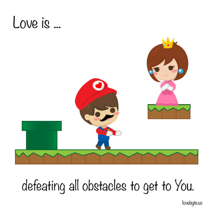 Signs of True Love. Love is... defeating all obstacles to get to you