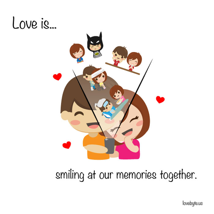 What Is The Definition of True Love? Love is... smiling at our memories together