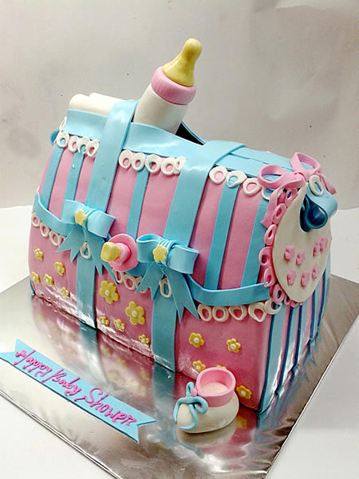 Cake Decorating Ideas - 3D Baby Shower Cake