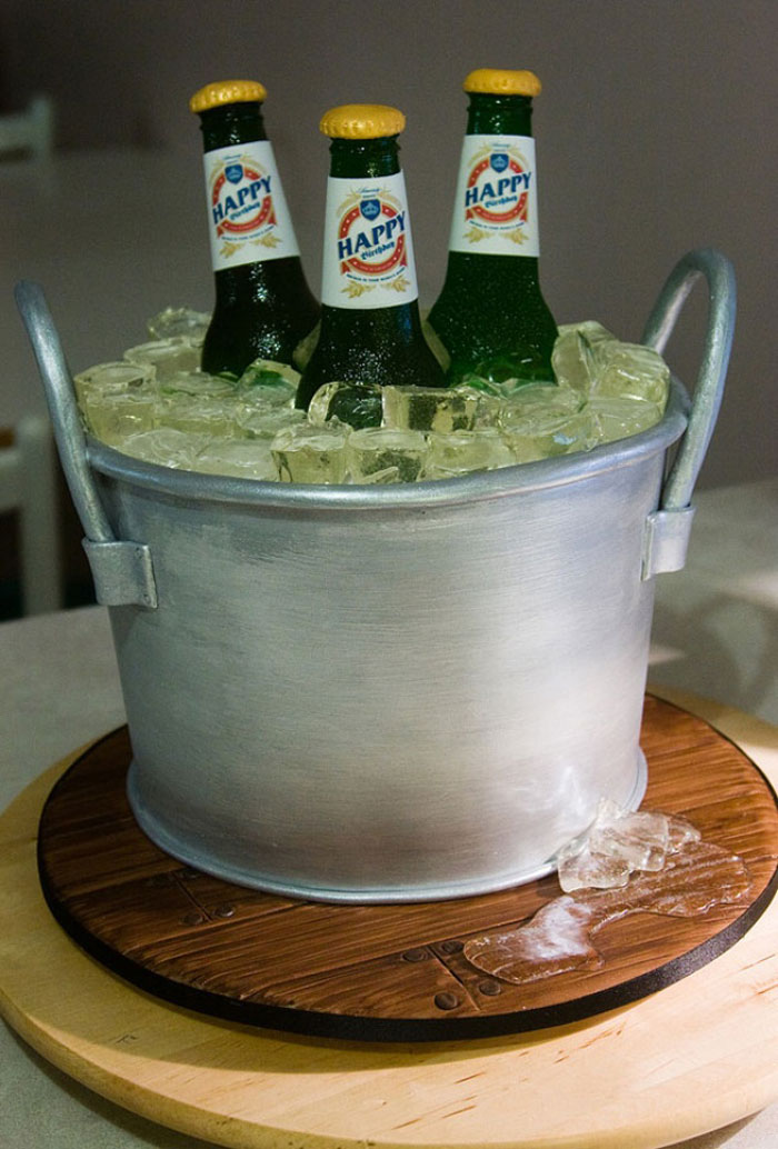 Cake Ideas - Beer Bucket Cake