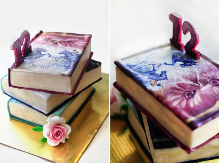 Cake Decorating Ideas - Birthday Books Cake