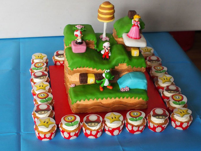 Cake Ideas - Super Mario and Company Cake