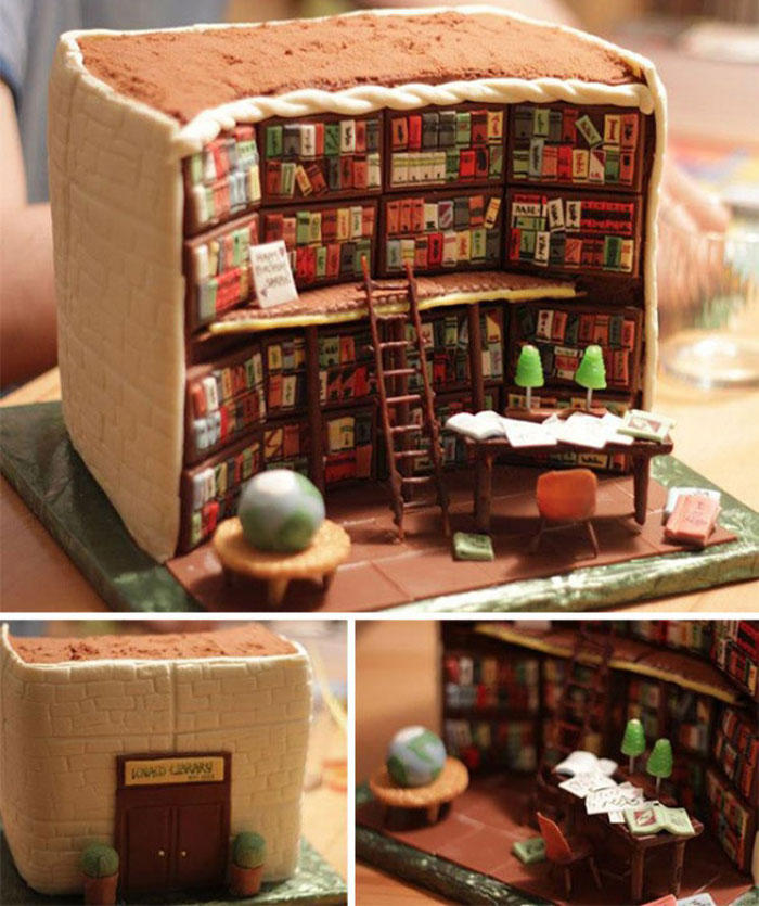 Cool Cakes - The Library Cake