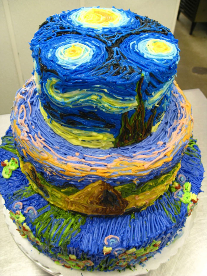 Awesome Cakes - Van Goghs Starry Night Cake