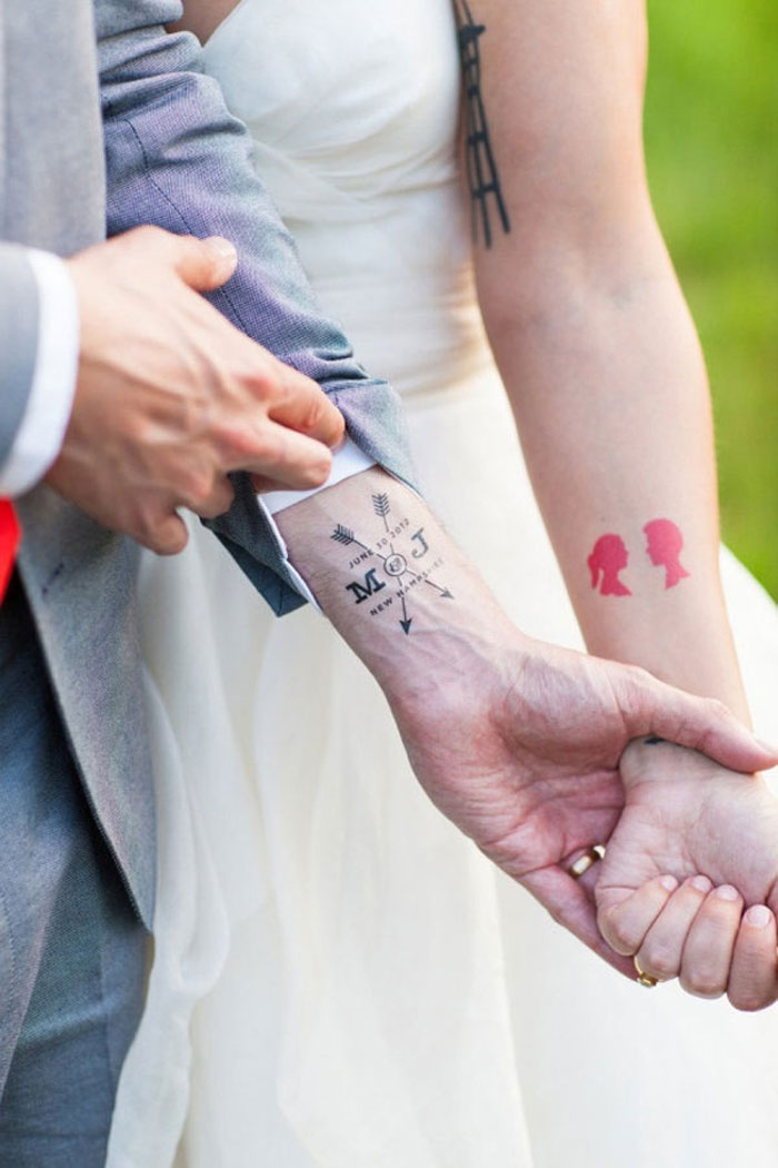 Couples Tattoos - M & J