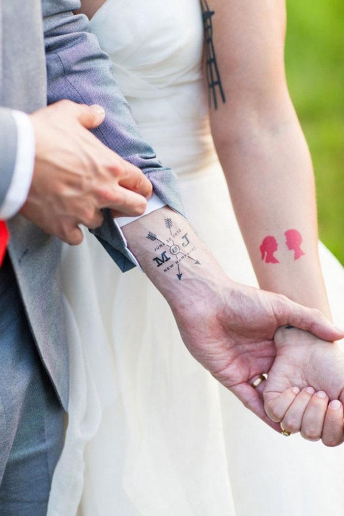 Couples Tattoos - M & J
