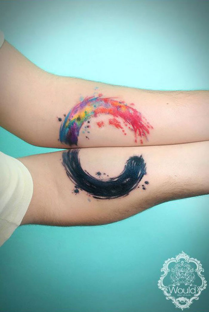 Matching Tattoo Ideas for Couples - Circle of Life