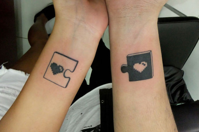 Tattoos for Couples - Puzzle Pieces