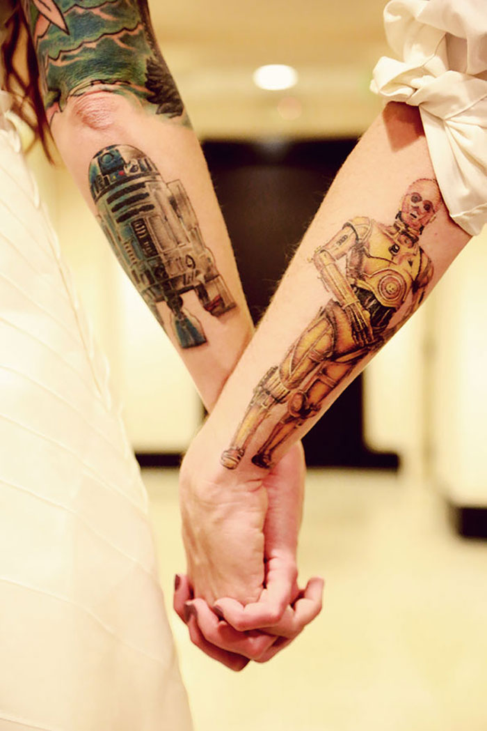 Couples Tattoos - R2d2 and C3po from Starwars