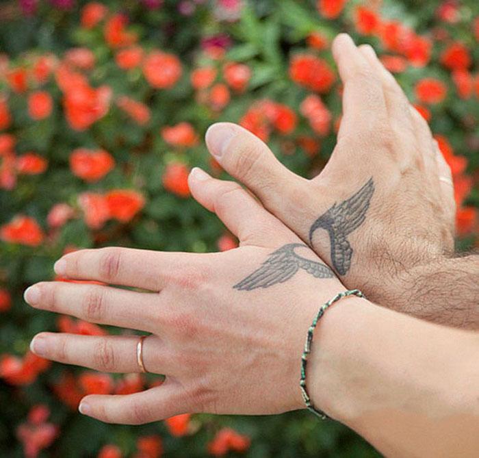 Matching Couple Tattoos - Freedom