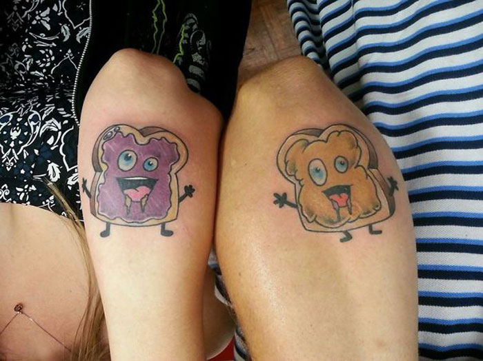 Matching Tattoo Ideas for Couples - Sandwiches