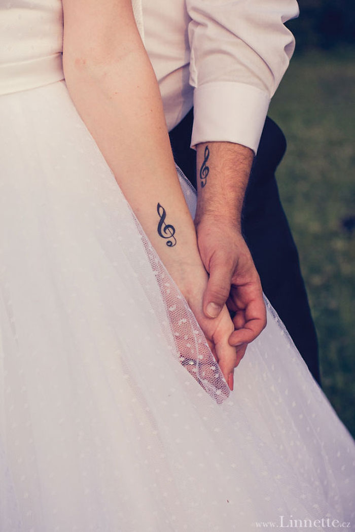 Couples Tattoos - Love & Music