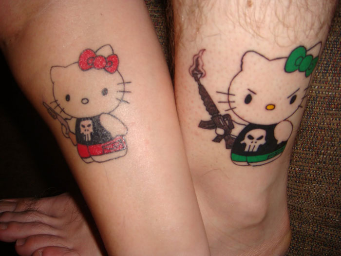 Couples Tattoos - Hello Kitty Tattoos