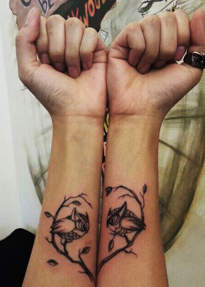 Matching Tattoo Ideas for Couples - Love Branches