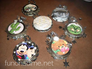 homemade Christmas Ornaments - Recycled Mason jars