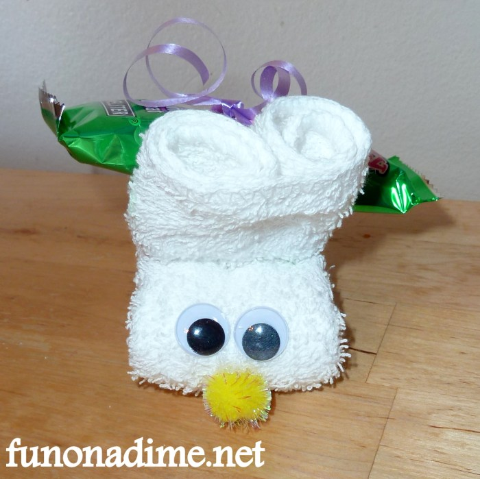Washcloth Easter Bunny
