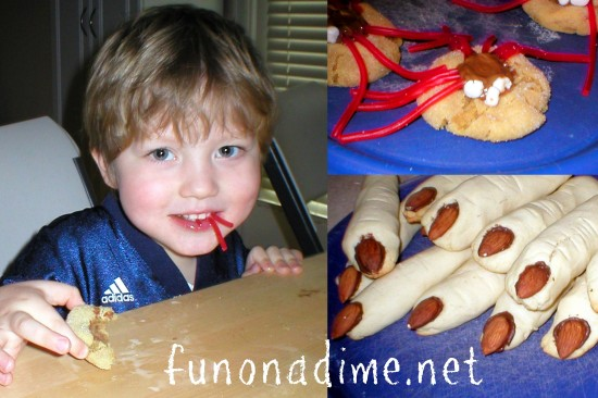 Witch Finger and Spider Cookies – Halloween Baking