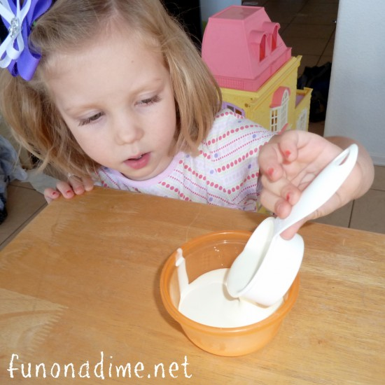 Kids make homemade butter