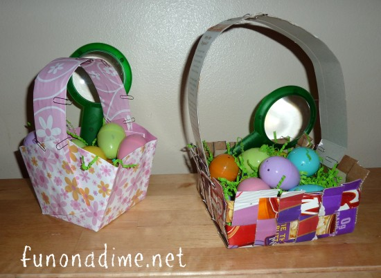 Homemade Easter Baskets & Easy Washcloth Bunny