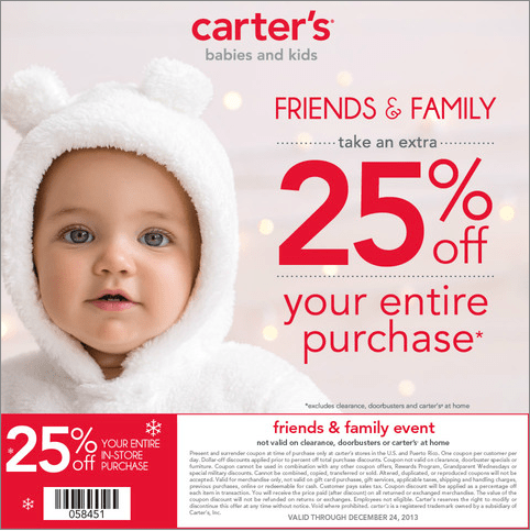 Carter's Friends and Family Event 25% Discount on Entire Purchase #CartersFam #sponsored #MC