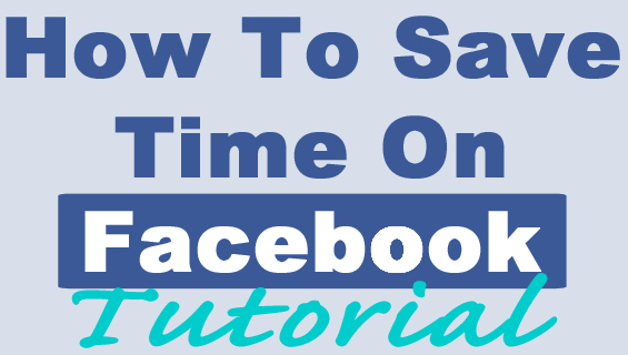 How to save time on facebook - Pinterest Pin