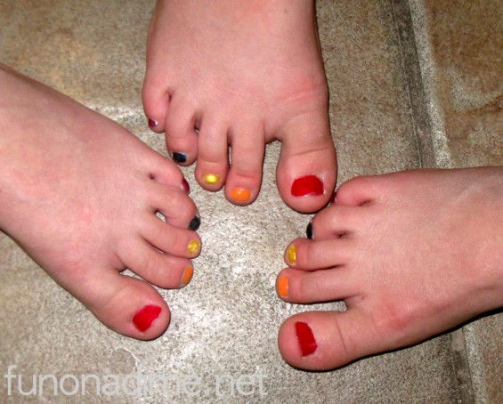 Easy St. Patrick's Day Fun - Fingers and toes