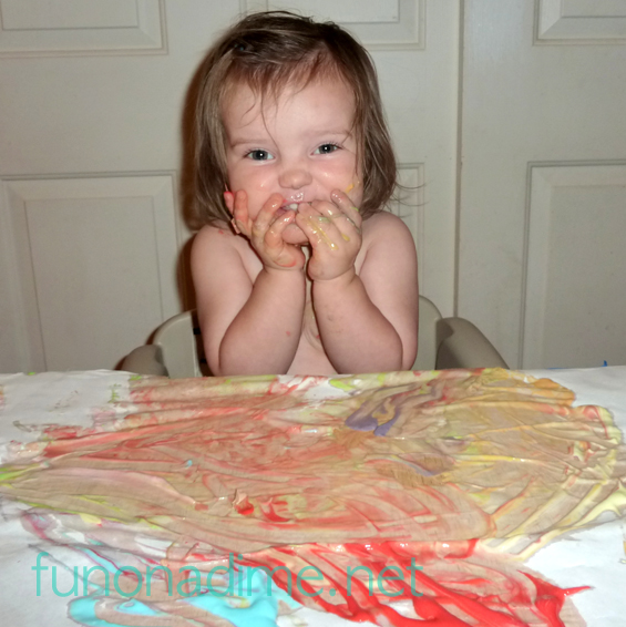 Edible Finger Paint - Great activity for not only preschool but all ages!