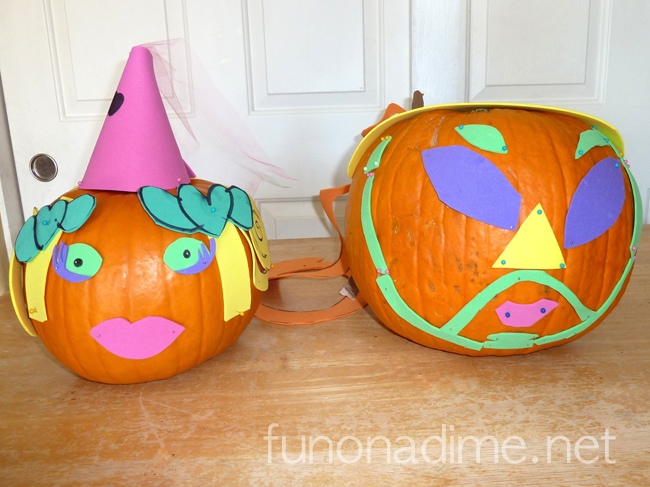 Foam Faced Pumpkins – Alternative to Pumpkin Carving and Knife Free