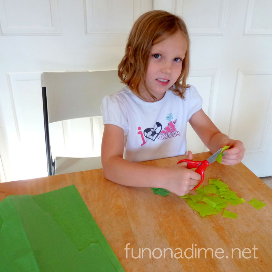 Simplifying Our Holidays - Easy Kid Made Card and Easy Peppermint Holiday Dessert