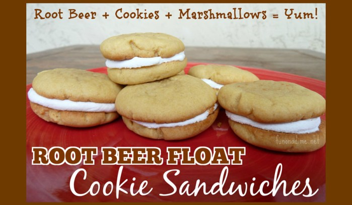 Root Beer Float Cookie Sandwiches
