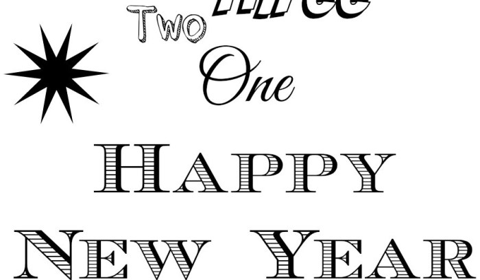 Happy New YOU & New Year – Free Printables