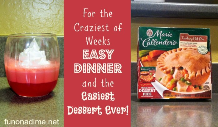 For the Craziest of Weeks {Easy Dinner and Easiest Dessert Ever}