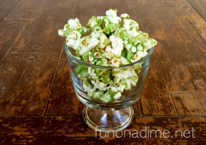 Corn Syrup Free Lucky St. Patrick's Day Popcorn Treat