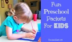 Fun Preschool Packets for Kids!
