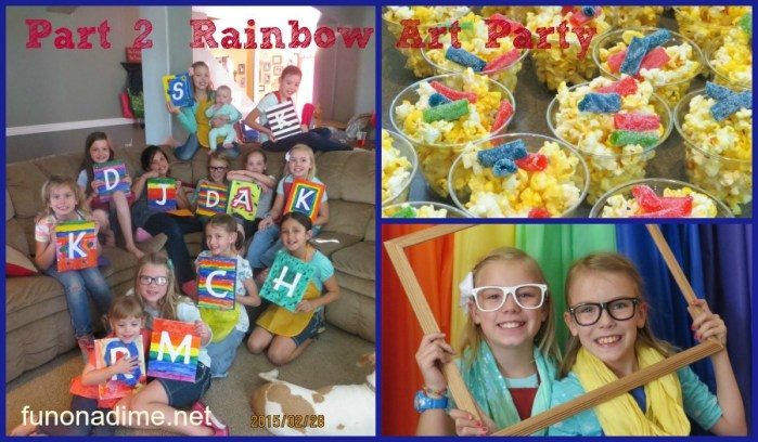 Rainbow Art Party on a Budget {Part 2}