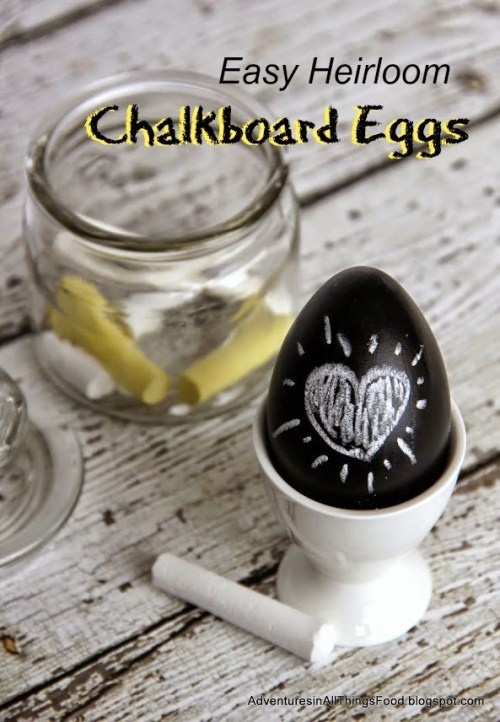 Easy Heirloom Chalkboard Eggs