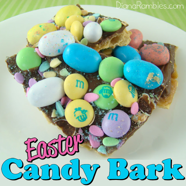 Easter Candy Toffee Bark