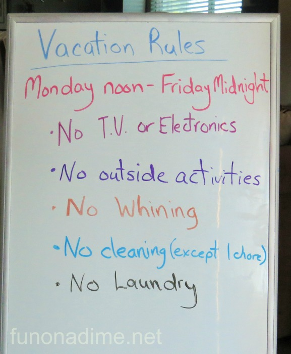 staycation rules