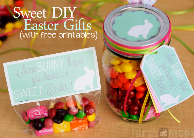 Sweet DIY Easter Gift Ideas with Printable Tags