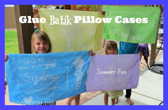 Glue Batik Pillow Cases Easy Summer Fun Activity