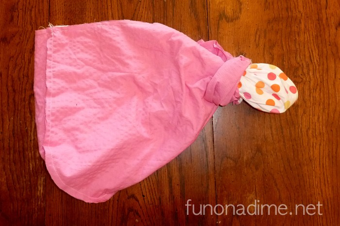 How to make a reversible end of bed toy bag
