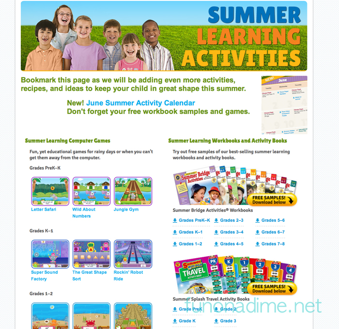 Free Learning Activities for our summer schedule